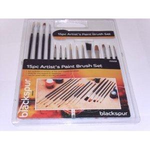 blackspur-15pc-assorted-artist-brushes