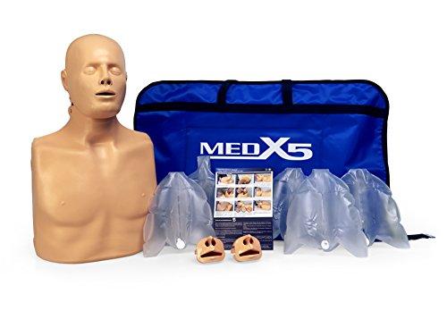 Medx5 2in1 HLW Übungspuppe für Wiederbelebung, Trainingspuppe für Erste Hilfe Training, Reanimationspuppe, Wiederbelebungspuppe für Jugendliche und Erwachsene