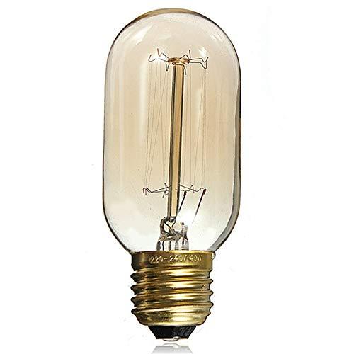 LED Sone Vintage Edison Retro Old Fashioned Style Schraube Leuchtmittel dimmbar Deko Spirale-Lampe E27220-240V 60W Warm-weiße Lichter UK, glas, Warm Yellow, E27 60.00W 220.00V - Globus Mittlere Schraube