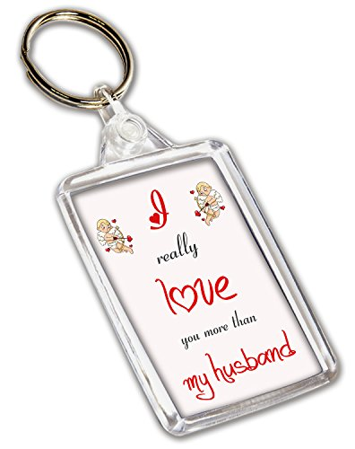 I love my Husband-Schlüsselanhänger, Geschenk zum Valentinstag/Jahrestag/Geburtstag Geschenk für Sie und Ihn -