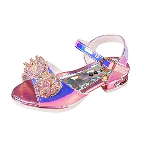 Kinder Kostüm Mädchen Gladiator - Pingtr - Babyschuhe Ballerinas Mädchen Schuhe - Kinder Prinzessin Schuhe Sandale mit Schmetterling und Paillette für Mädchen Kostüm Karneval Party Geburtstag