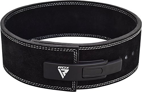 RDX-Powerlifting-Belt-Lever-Buckle-Cow-Hide-Leather-10mm-Single-Prong-Weight-Lifting-Crossfit-Workout-Gym-Fitness-Exercise-Bodybuilding