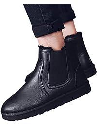 Sneakers Scarpe ASHOP Moda Tonda retrò Tinta Unita Rotonda Calda più Velluto  Stivali da Neve Tubo Stivali di Cotone… 5d0573d322d