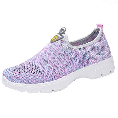 S&H NEEDRA Frauen Mesh Casual Loafers Breathable Slip-on Schuhe Weiche Laufschuhe TurnschuheFreizeitschuhe Ultra-Light Sportschuhe Laufschuhe