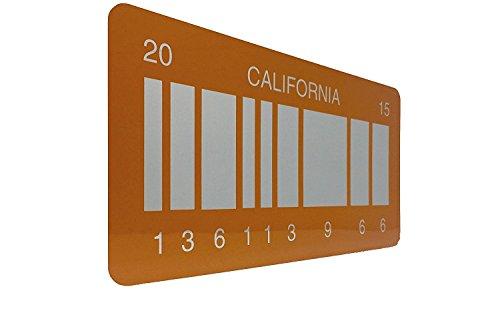 (Zurück zu der Zukunft 2 Prop Nummernschild, Zurück in die Zukunft 2 Nummernschild wie auf Marty McFly und Doc Browns DMC-12 Delorean aus dem Film Zurück in die Zukunft 2 mit einem gespiegelten Barcode auf einem California 2015 Platte OUTATIME (Tracked Versand enthalten))