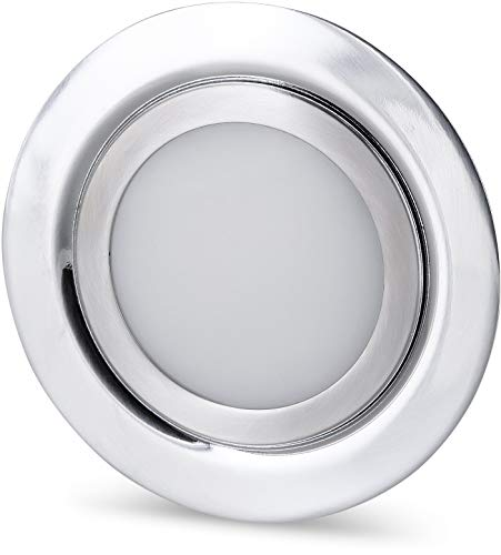 LED Slim Muebles Foco Metal IP4412V de hierro cepillado-Válido en lata de...
