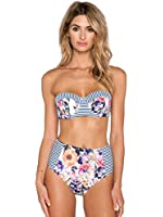 Blooming Jelly Women's Floral Print Vintage Bikini Set B Cup Swimwear For Small Bust Ladies Multicoloured