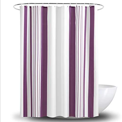 SUIWO Duschvorhang Uphome Gewebe-Duschvorhang wasserdicht Polyester-Streifen Design