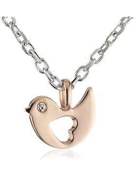 Esprit Kinder und Jugendliche Halskette Silber vergoldet rhodiniert Zirkonia ESNL92777B340
