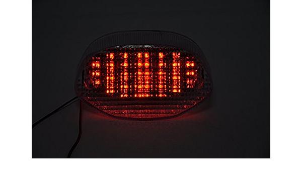 Topzone Lightings Clear Lens Motorrad Led Rücklichter Rücklicht Mit Integrierten Blinker Lampe Indikatoren Für Bmw R1100s F650cs Auto