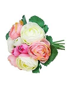 DAYAN Sposa azienda fiori rosa palla ortensia Artificiale Fiori di Seta da Sposa Matrimonio colore Rosa