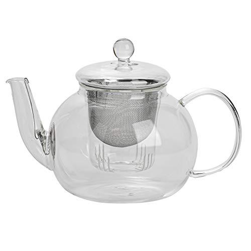 Argon Tableware Große Glas 3-Wege-Teekanne. Geeignet für Beuteltee, lose Blätter und Teemischungen