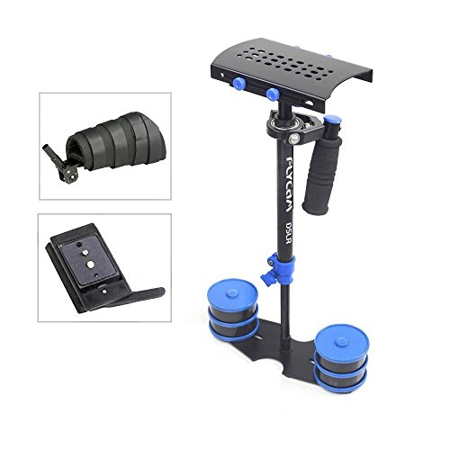 Flycam DSLR-Nano blau 57,1 cm/57 Mini Handheld Stabilisator mit Arm Unterstützung brace| klein Steadycam für DSLR Video-Kameras bis zu 1,5 kg/3.3LB | frei Quick Release und Speicherung bag (dslr-nano-qr-bl) (Brace 360)