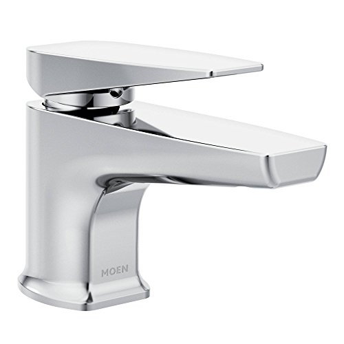 Moen S8001 über one-handle Low Arc Badezimmer Wasserhahn, Chrom (Moen Low-arc Bad Wasserhahn)