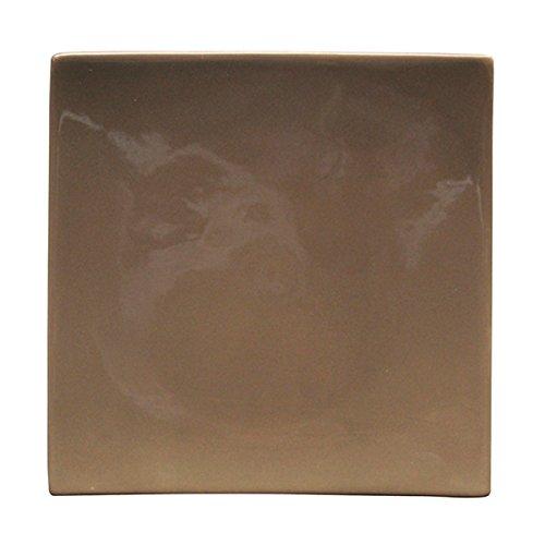 Bruno Evrard Assiette plate taupe en céramique 26x26cm - Lot de 6 - MATINE
