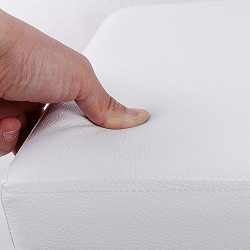 confronta il prezzo SONGMICS 38 cm Pouf Cubo Poggiapiedi Sgabello Pieghevole Carico Max. 300 kg Bianco LSF103 miglior prezzo