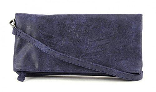 Fritzi aus Preußen Ronja BW Vintage Clutch Umhängetasche 29 cm Atlantic (Blau)