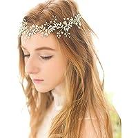 HESHIFENG. party & accessories Perlen Brautschmuck Haarband Strass Stirnbänder Braut Haarschmuck für Vintage Hochzeit