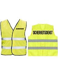 SICHERHEITSDIENST Warnweste | Sicherheitsweste | Gelb | Brust- und Rückendruck