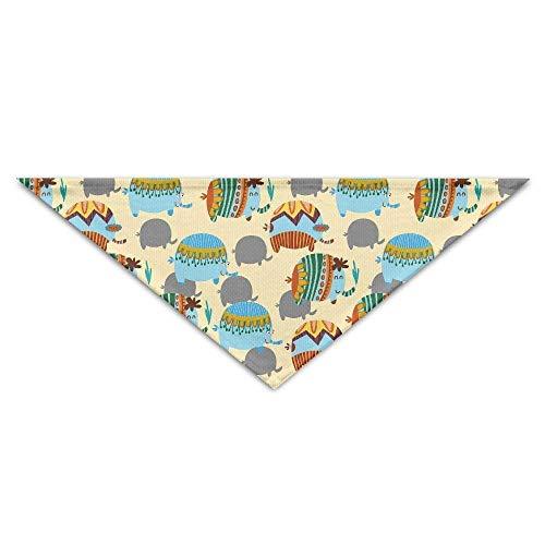 Rghkjlp Elefantes Divertidos Turbante Triángulo Bufanda Bib Bufanda Accesorios Bufanda para Mascotas