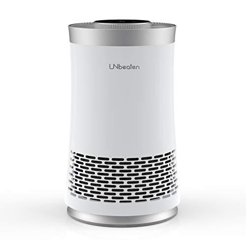 Luftreiniger allergie mit HEPA-Filter & Aktivkohlefilter UN103 Air Purifier 3-Stufen-Filterung Raumluftfilter Lufterfrischer filtern 99,97% Staub, Pollen, Rauch und Gerüche für Allergiker und Raucher