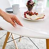 Tischfolie hochglanz rund 90 cm (in allen Größen erhältlich) +'die abgeschrägte Kante' einmalig