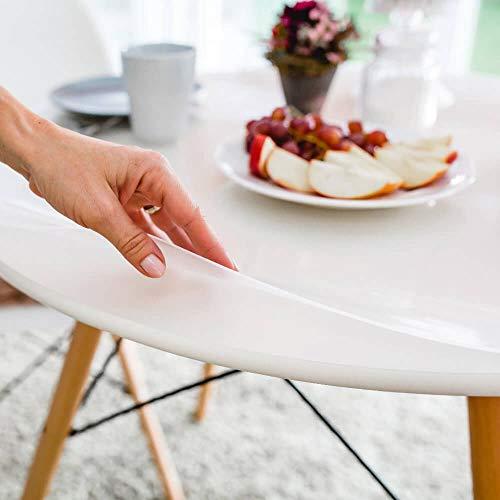 """Tischfolie hochglanz rund 130 cm (in allen Größen erhältlich) +\""""die abgeschrägte Kante\"""" einmalig"""