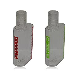 Steelo Trendy Fancy Fiona Plastic Bottles,Pack of 2, 450 ml