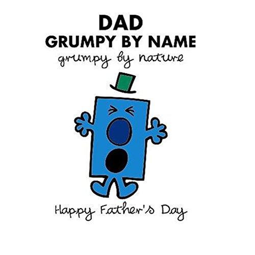 Mr men 3d olografici biglietto di auguri happy fathers day mr grumpy nominativamente