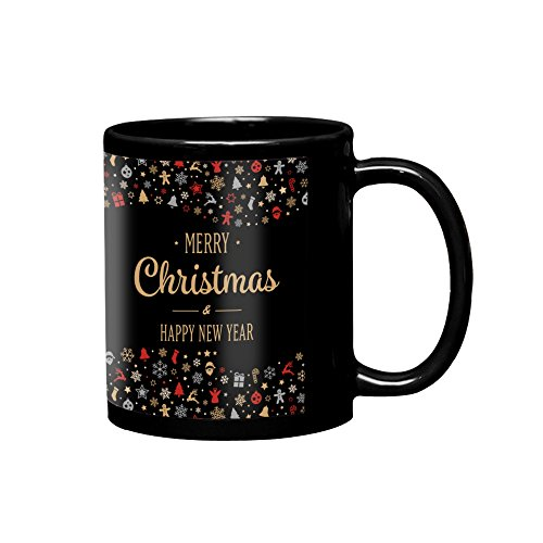 VESPL LOF Ceramic Coffee Mug, Black