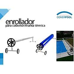 Enrollador de piscina para manta térmica o cobertor solar de max 6,45 metros