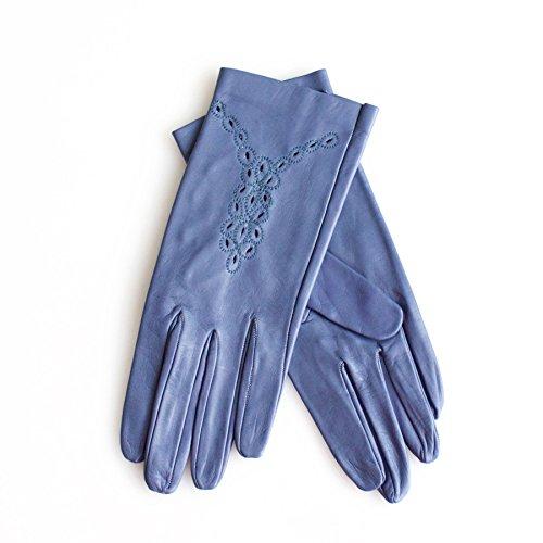 Ivory Blush Store Damen Handschuhe Gr. 7, blau