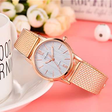 XKC-watches Herrenuhren, Damen Modeuhr Quartz Schwarz/Rot/Gold Armbanduhren für den Alltag Analog Damas Mehrfarbig Minimalistisch - Rose Rot Gold/Weiß (Farbe : Dunkelblau)
