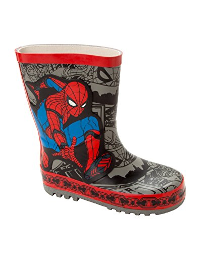 Boys Marvel Official Spiderman Wellies RAIN Boots Wellys Wellingtons UK Size 7-1
