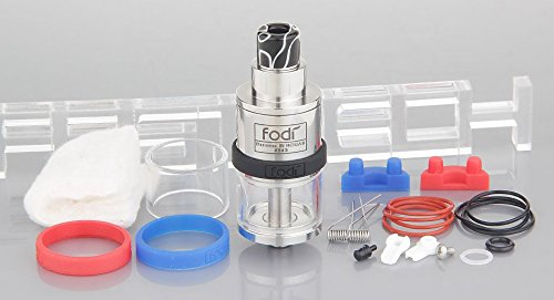 Authentic HCigar Fodi RDTA Rebuildable Dripping Tank Atomizer , 2.5ml / stainless steel + glass / 22mm diameter