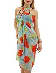 Ninimour Europäische und amerikanische Mode heißen Bohren Strandkleid,Kleid Urlaub,Beachwear (petite, XX570S)