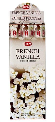 francese di incenso alla vaniglia (6confezioni = 120bastoncini) con supporto per bastone da Sterling Effectz