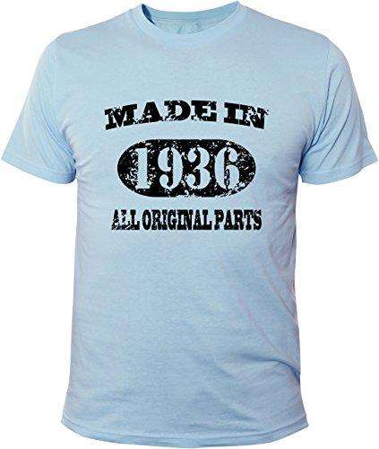 Mister Merchandise T-Shirt 78 79 Made in 1936 All Original Parts Years Jahre Geburtstag - Uomo Maglietta S-XXL - Molti Colori