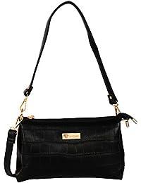 Lavu&me Embelle Women's Handbag,clutch &sling Bag (Black, Black Premium 2 In 1 Handbag LE133A)