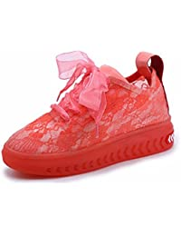GTVERNH Zapatos de Mujer/Verano/Encaje Gasa Jelly Shoes Zapatos De Mujer Sola Muffins Fondo Grueso Anoto Transpirable...