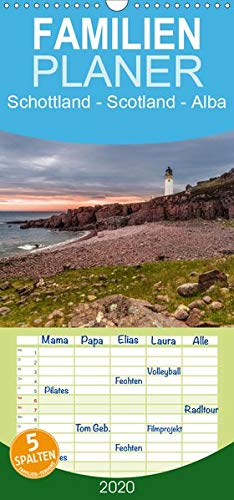 Schottland - Scotland - Alba - Familienplaner hoch (Wandkalender 2020 , 21 cm x 45 cm, hoch): 13 brillante Bilder zeigen Schottlands faszinierende ... (Monatskalender, 14 Seiten ) (CALVENDO Orte) -