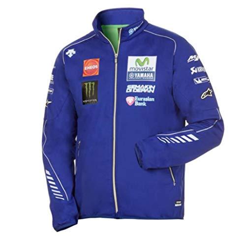 Yamaha Racing VR46 MotoGP Authentic Herren Sweater Jacke M17, Größe: XL