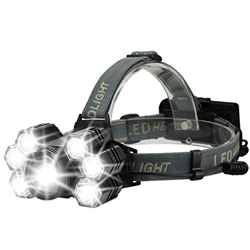 Zmsdt fari 5 modalità luci da 10000 lumen con fari ricaricabili orientabili a led orientabili