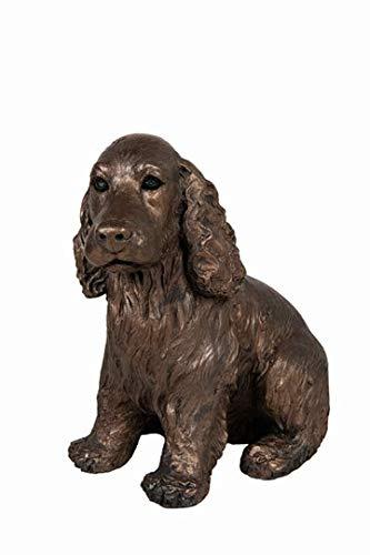AT044 Bronze-Skulptur Ruby Cocker Spaniel