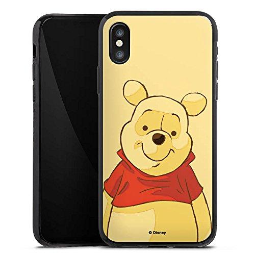 Apple iPhone X Silikon Hülle Case Schutzhülle Disney Winnie Puuh Merchandise Fanartikel Silikon Case schwarz