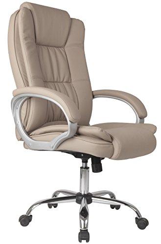 Vs venta-stock sedia direzionale da ufficio confort 2, regolabile, in pelle sintetica, taupe