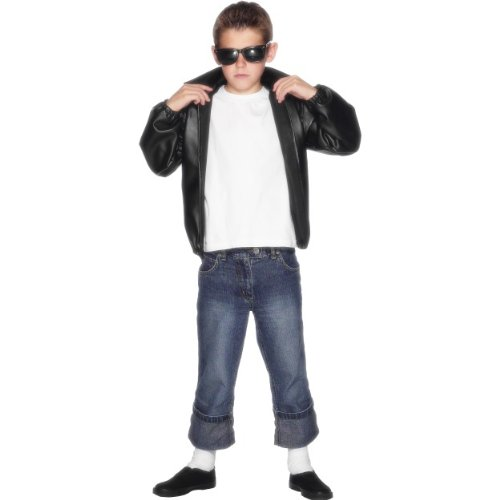 Smiffys Karneval Kinder Kostüm T-Birds Grease Jacke aus Musical Größe ()