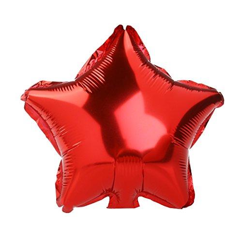 Luftballons Ballon Fünfzackigen Stern Folienballons Zufällige Farbe 8ST - 6
