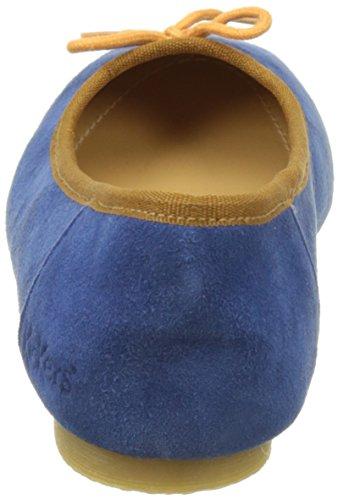 Kickers Baie, Ballerines Bout Fermé Femme Bleu (Bleu Orange)