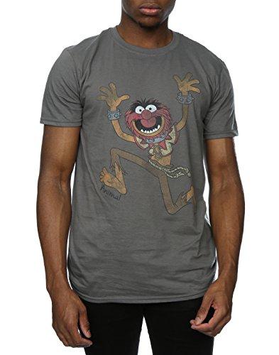 Disney Herren The Muppets Classic Animal T-Shirt Holzkohle
